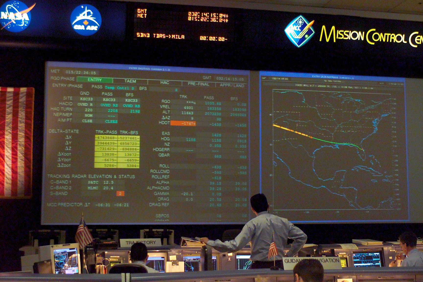 Shuttle Flight Control Room as Contact with Columbia Is Lost