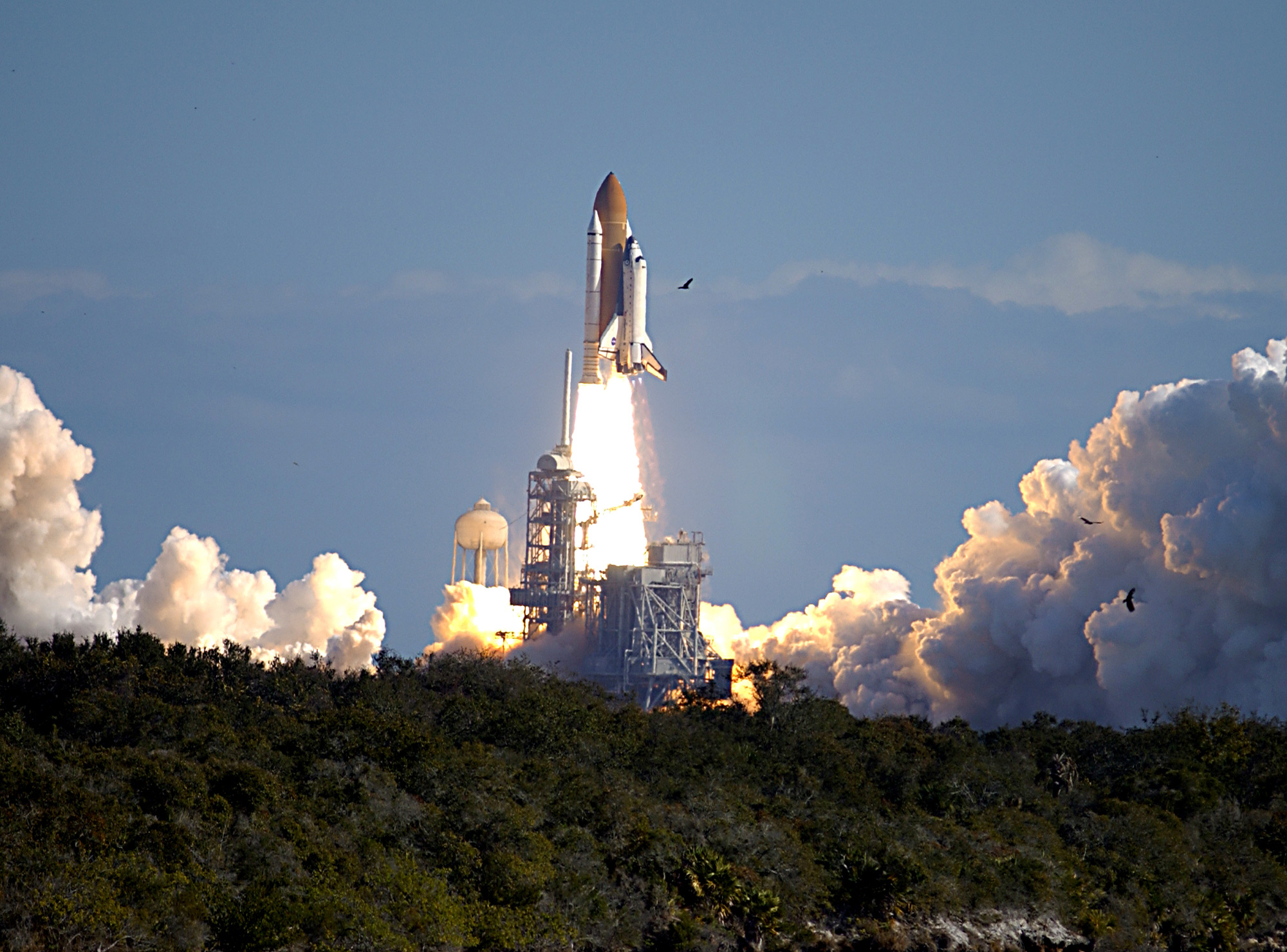 Columbia Launches on STS-107 Mission
