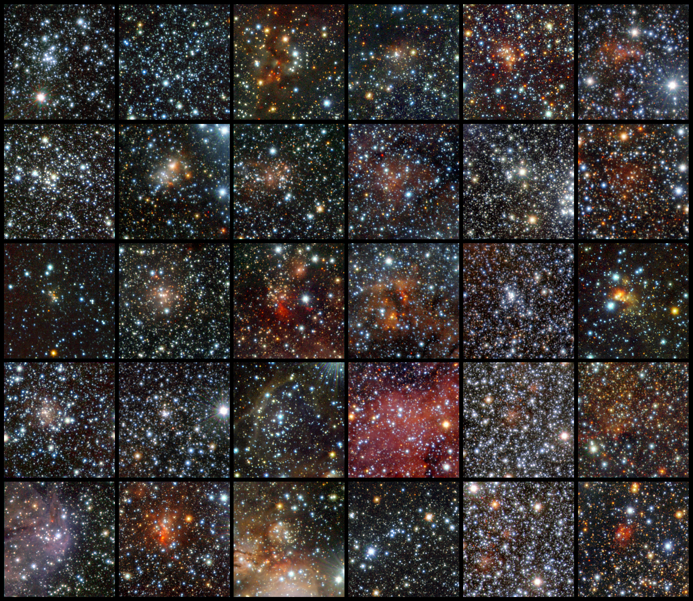 96 Hidden Star Clusters Discovered by Dust-Piercing Telescope