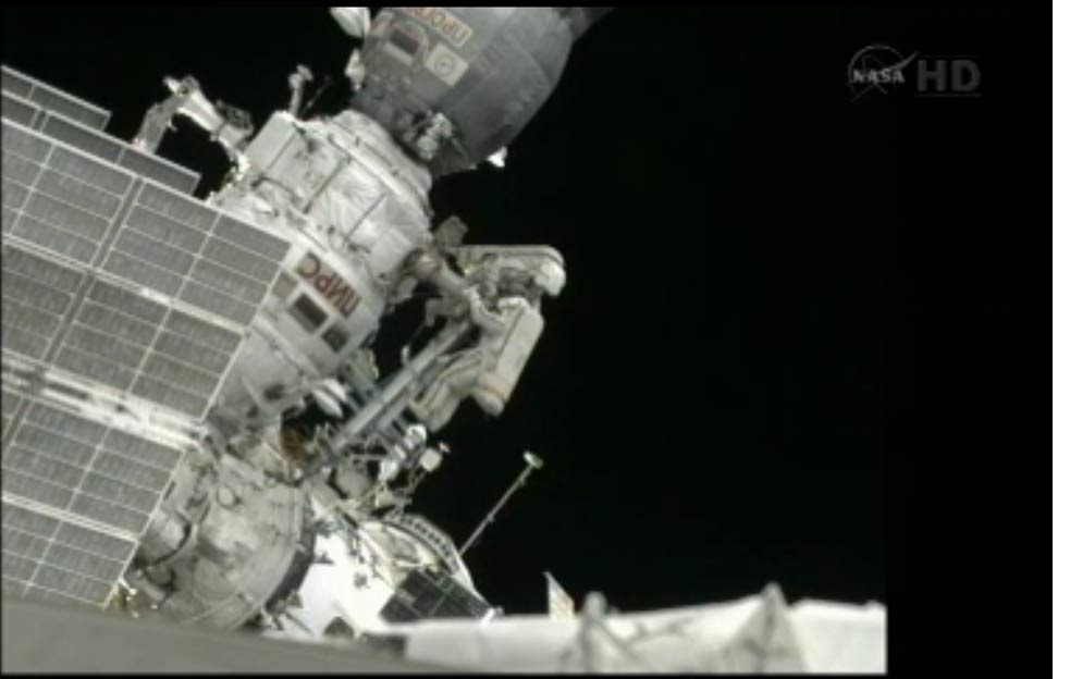 Spacewalkers' Amateur Satellite Toss Stalled at Space Station