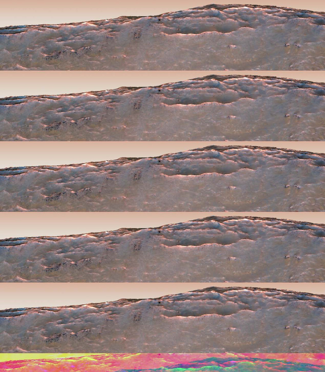 Oblique View of Newton Crater with Synthetic Sky