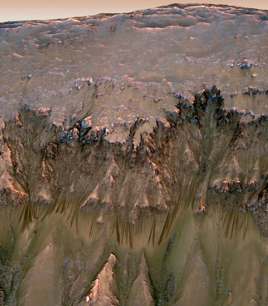 Signs of Possible Water on Mars at Newton Crater