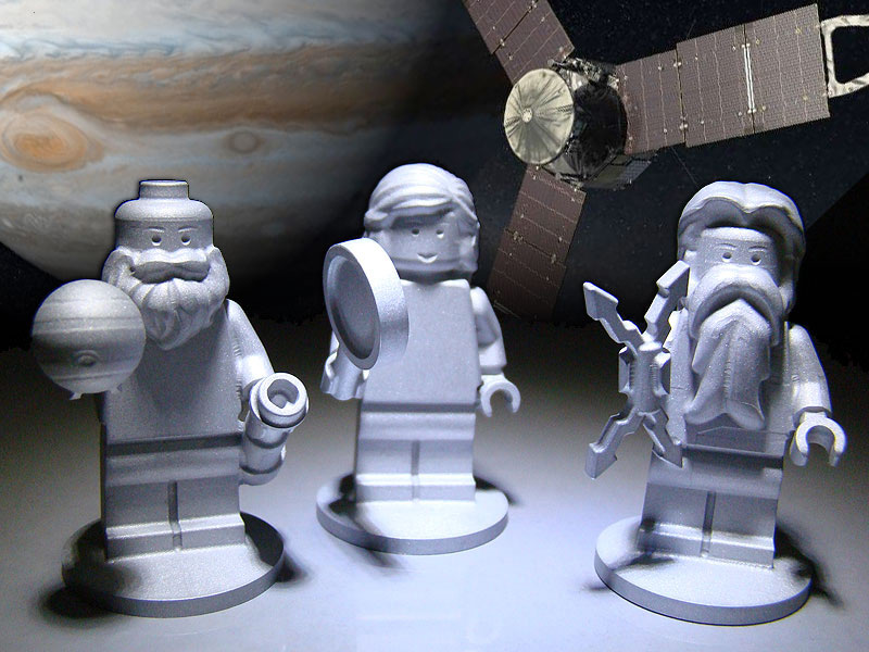 LEGO Figurines on Jupiter Probe
