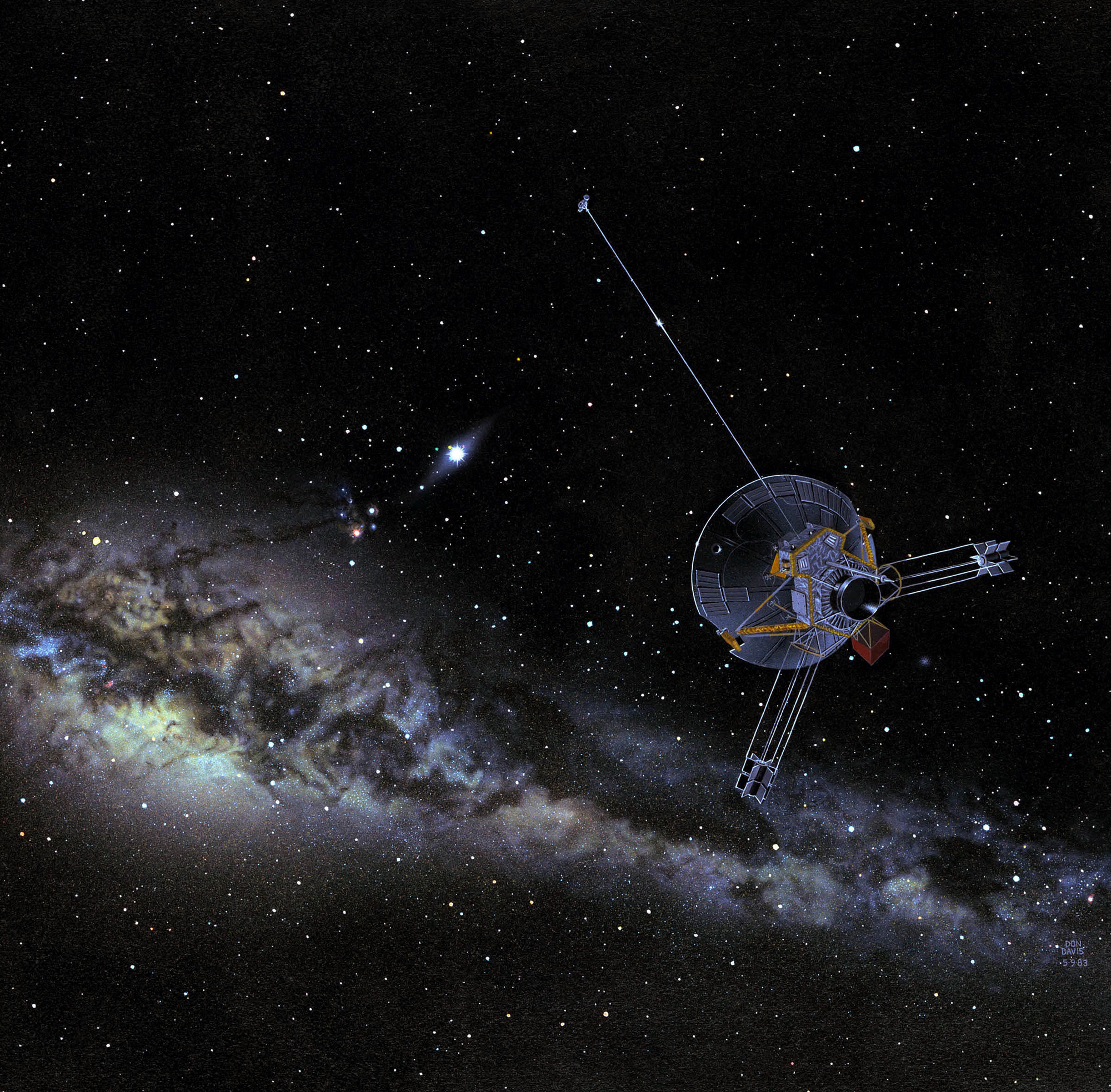 Pioneer Spacecraft Heads Toward Interstellar Space