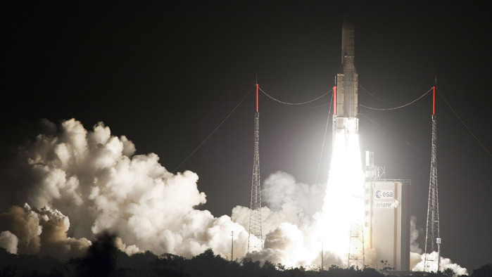 European Rocket Leaves Troubles Behind With Smooth Launch