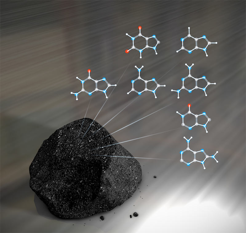 Building Blocks of DNA Found in Meteorites from Space