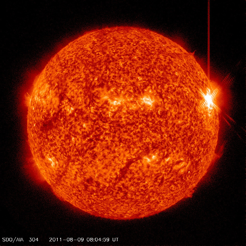 Major Solar Flare of August 9, 2011