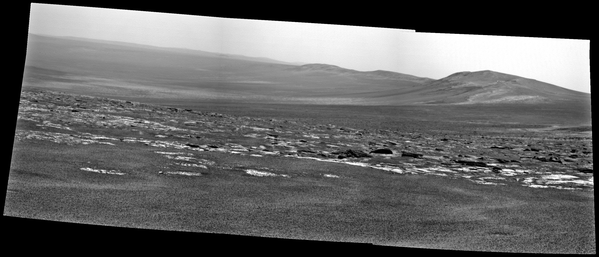 Opportunity's View Approaching Rim of Endeavour
