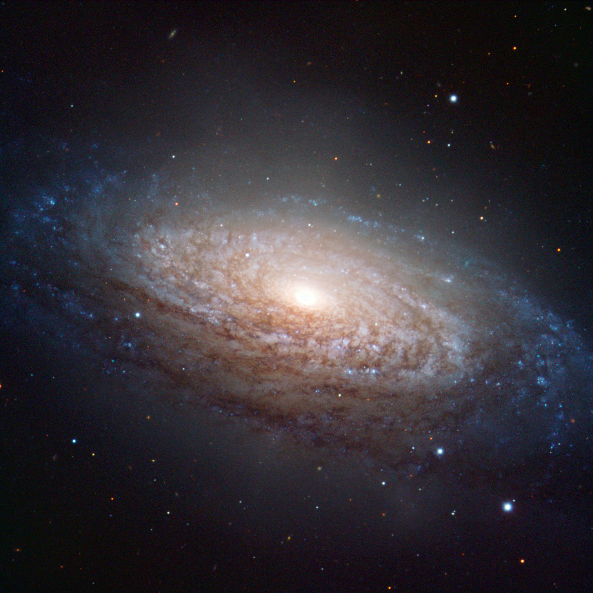 Spiral Galaxy NGC 3521 in the Constellation of Leo