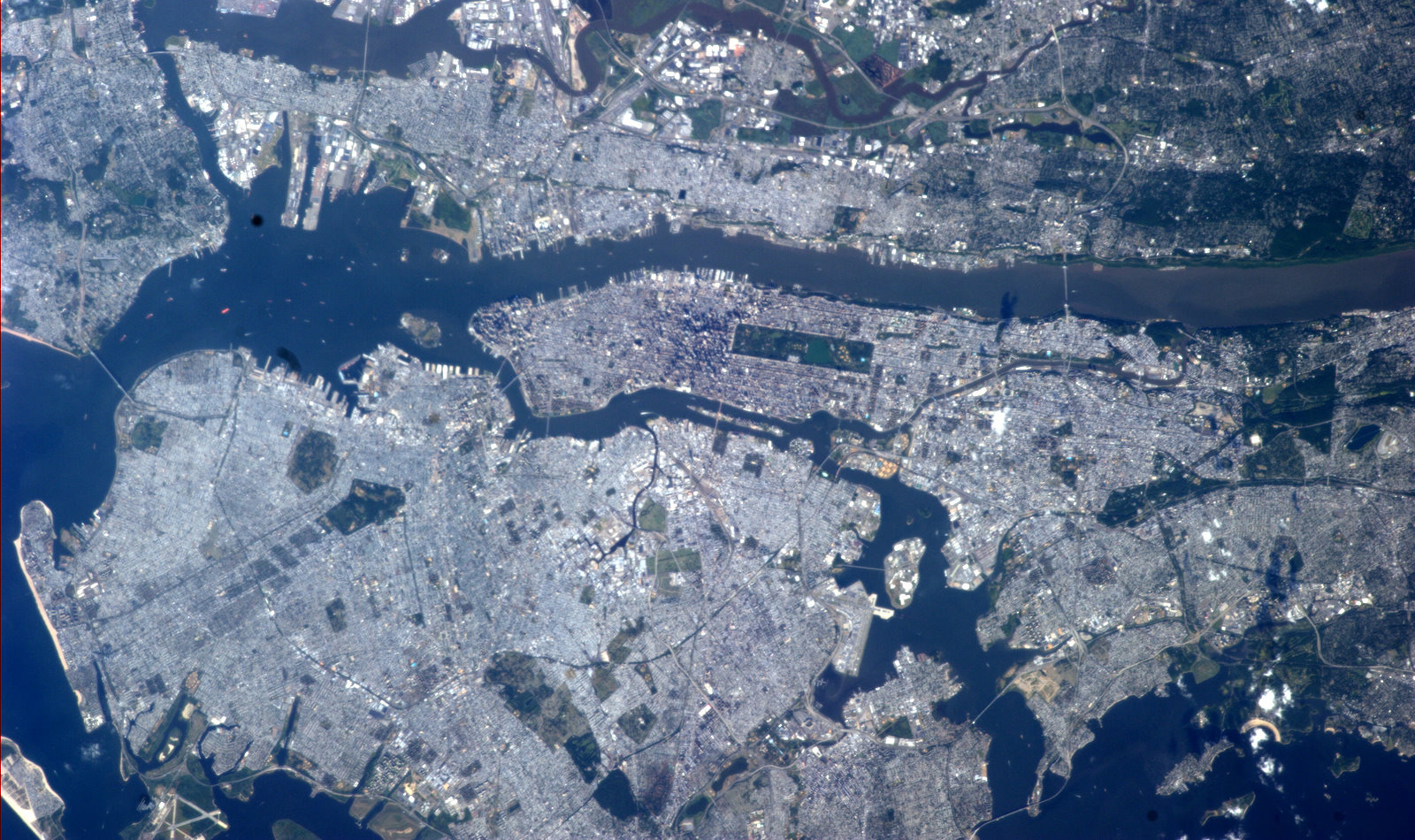 Astronauts Spy Beautiful Summer Day in NYC