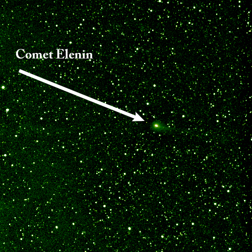 Comet Elenin as seen by NASA's STEREO spacecraft on Aug. 6, 2011.