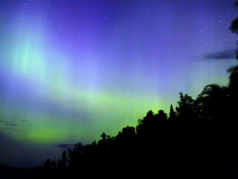 Aurora over Suomi, Minnesota, August 2011