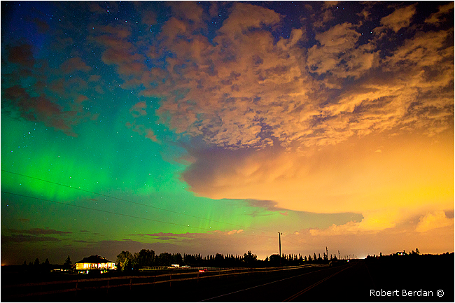 Aurora Outside of Calgary, Alberta, Canada