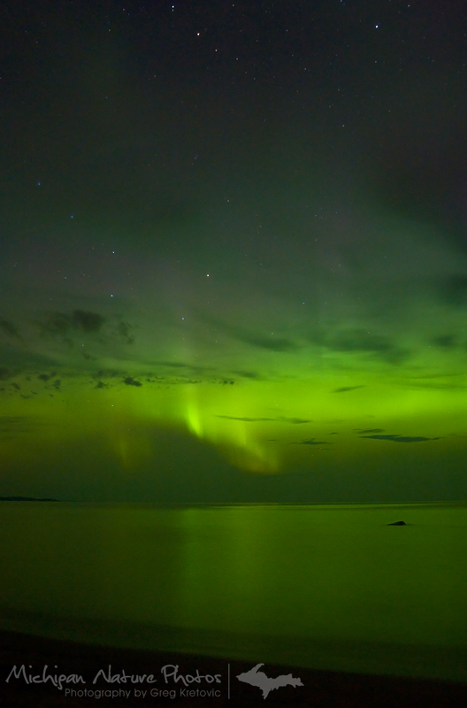 Aurora over Lake Superior, August 2011