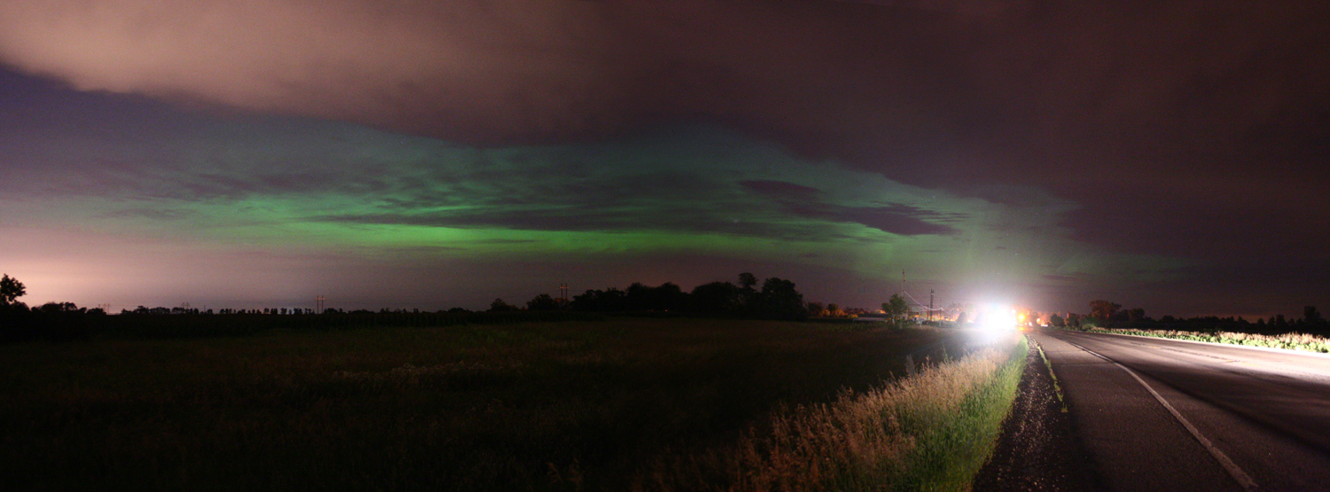 Aurora over Clearwater, Minnesota, August 2011