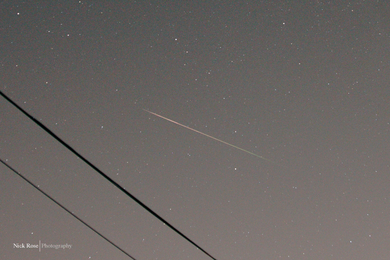 Perseid Streaks Above California