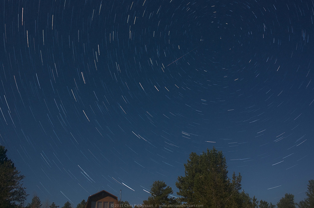 2011 Perseid Meteor Over South Park, Colorado