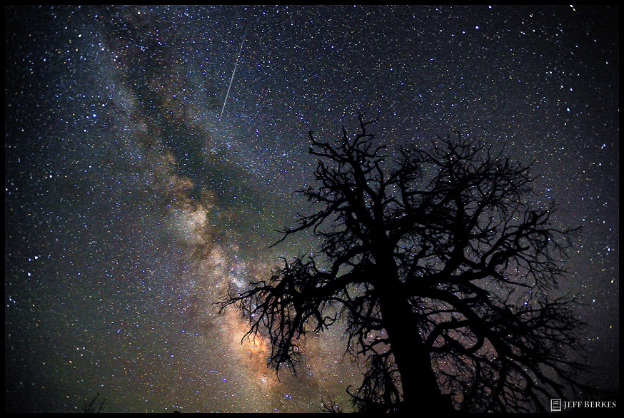 Perseid Meteor Over Dead Horse Point State Park, Utah