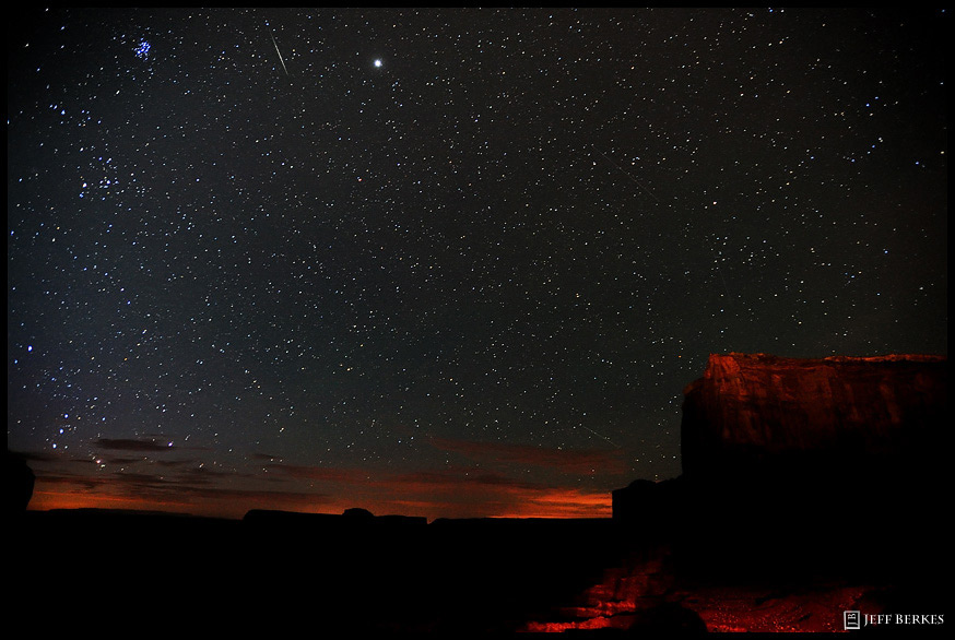 Perseid Over Monument Valley, Utah, August 1, 2011.