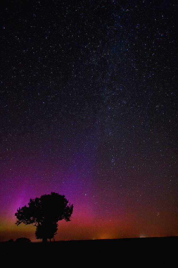 Aurora Near Pulawy, Poland, August 5, 2011