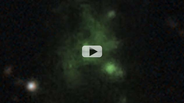 Mysterious Blob in the Ancient Universe Explained