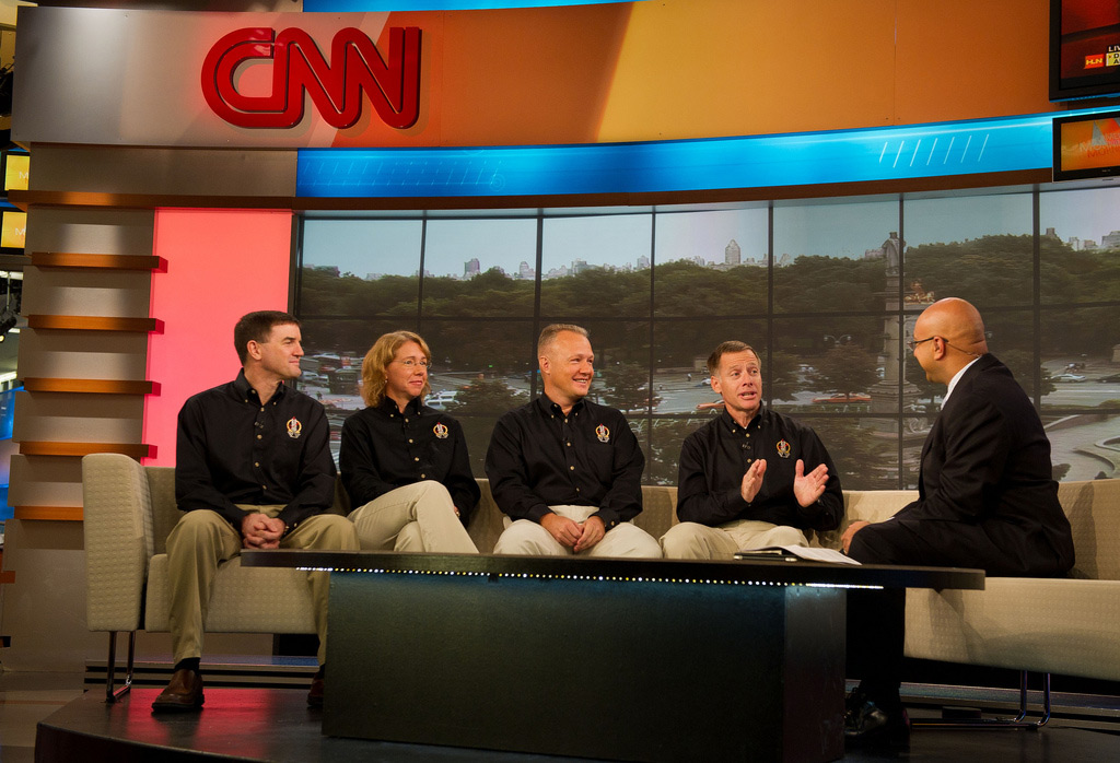 STS-135 Crew Interviewed on CNN