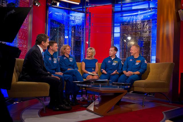 STS-135 Astronauts Visit Fox News