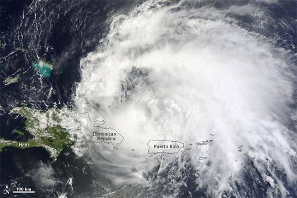 Hurricane Irene Spotted From Space