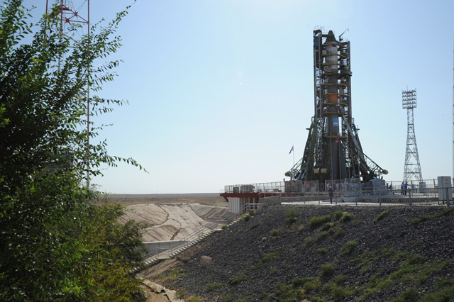 Progress M-12M Cargo Vehicle on Launch Pad