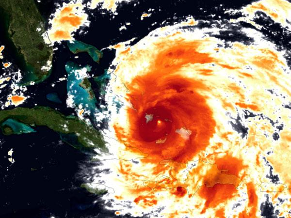Eye of Hurricane Irene Spotted from Space