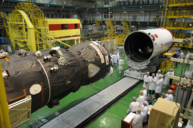 Progress 44 Spacecraft Being Assembled