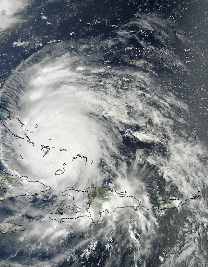 Hurricane Irene Over the Bahamas