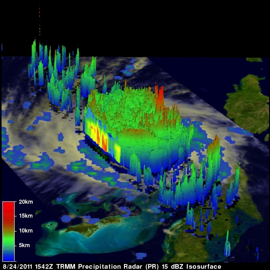 3-D Hurricane Irene