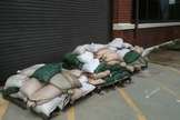 NASA's Langley Research Center in Hampton, VA, has sandbags prepared for Hurricane Irene on August 26, 2011.