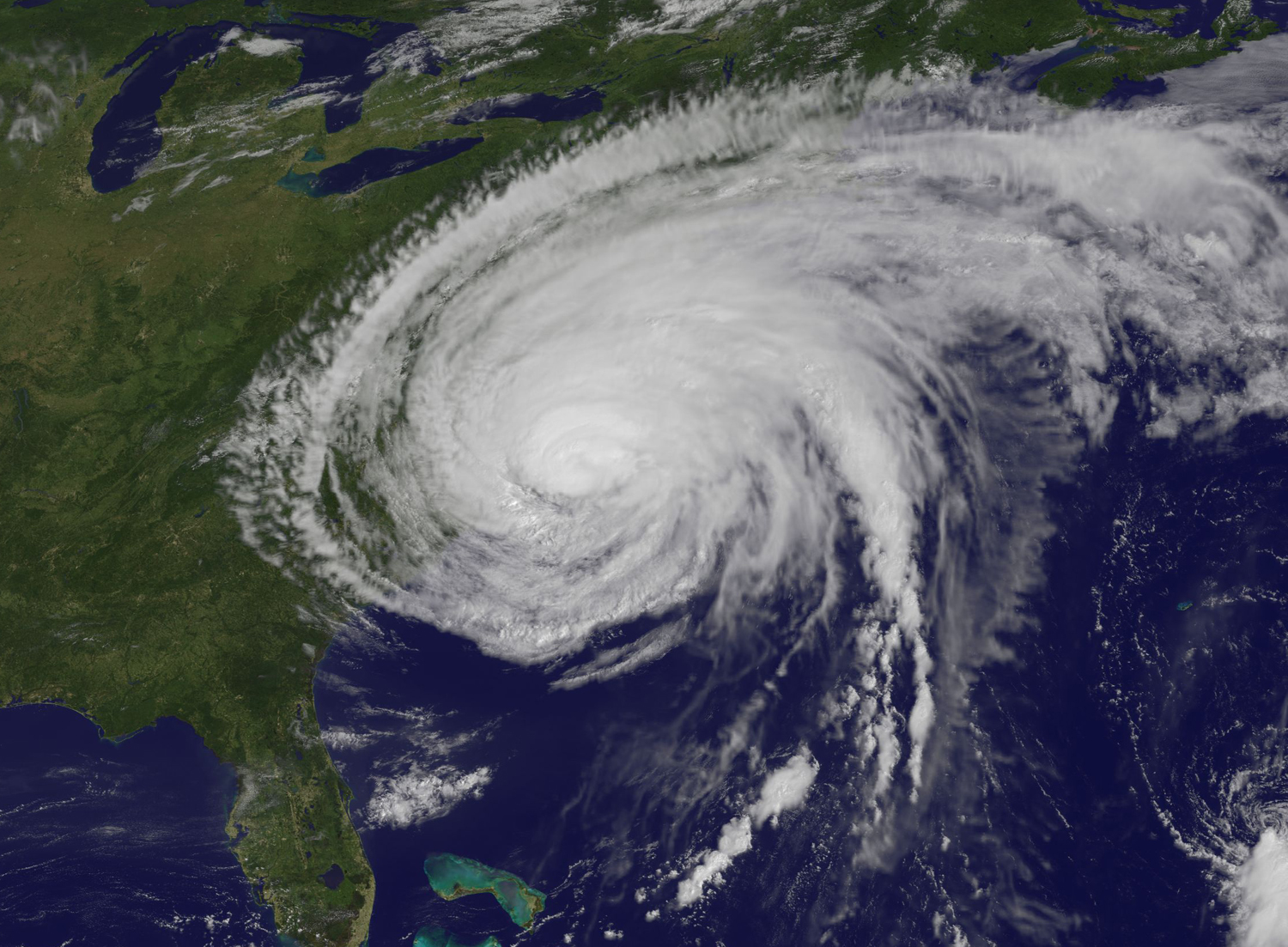 Satellite Photo Shows Hurricane Irene Battering US East Coast