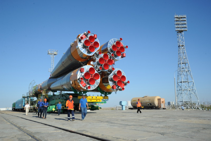 Soyuz-U Launch Vehicle Rear View