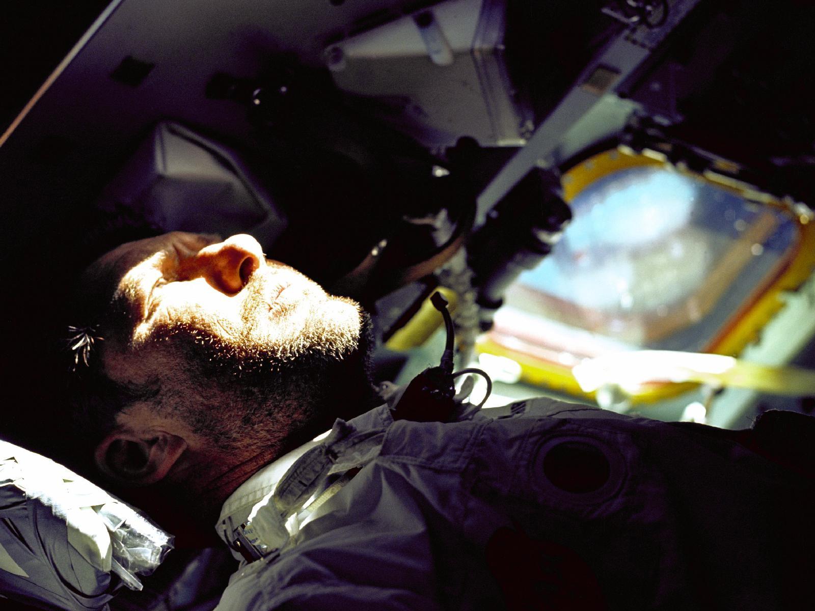 Walter Schirra Aboard Apollo 7