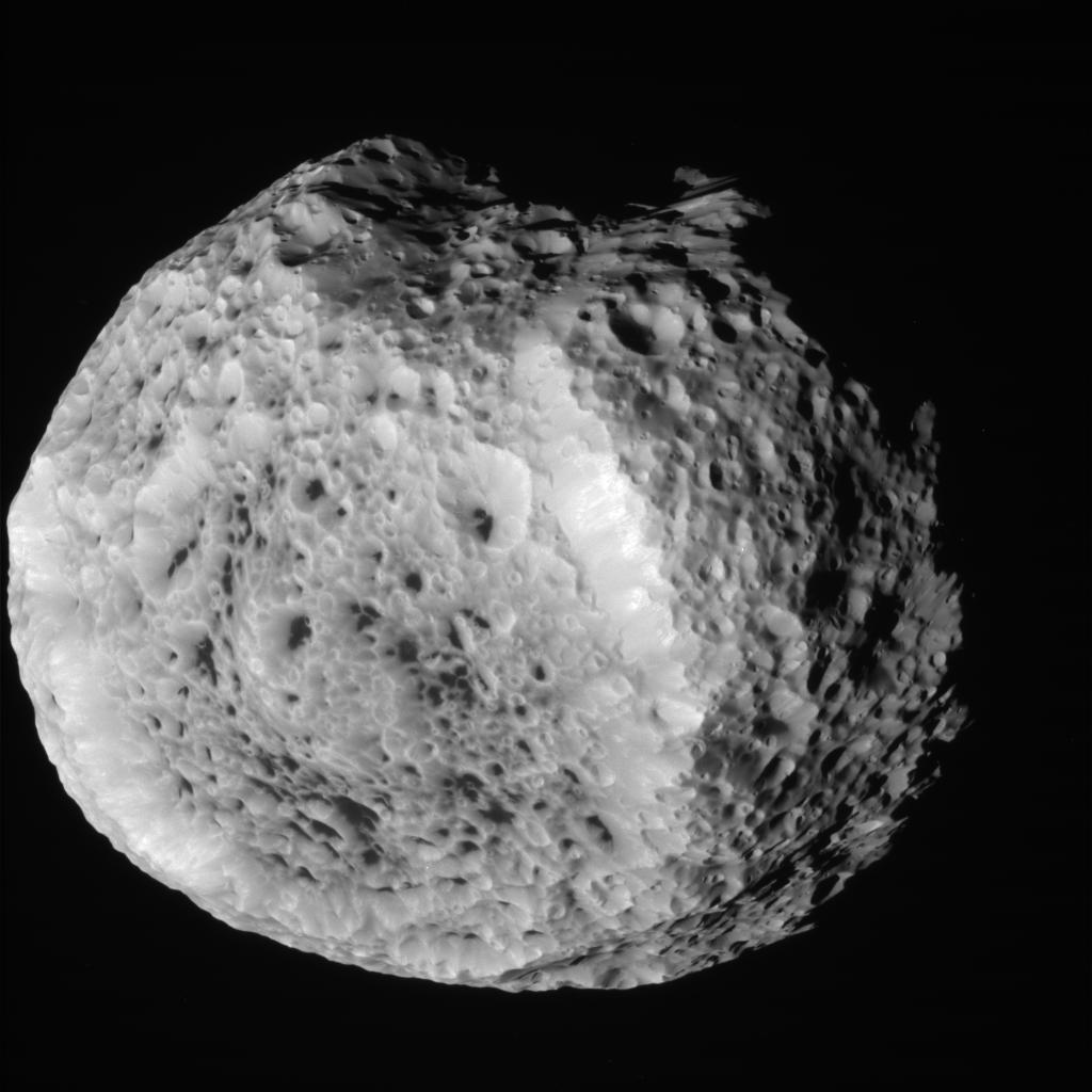 Saturn's Odd Pockmarked Moon