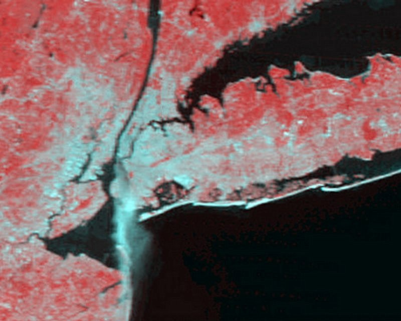 NASA's Terra Satellite Shows the Fire Plume from Manhattan