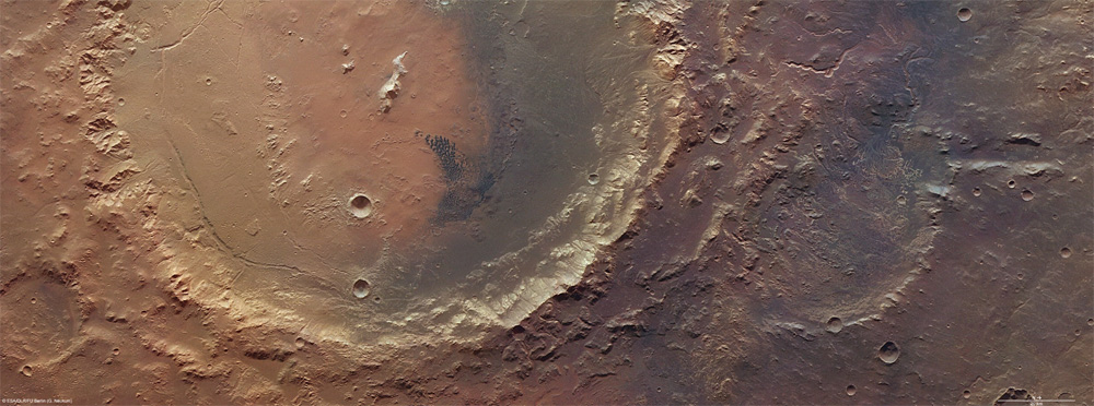 Rare View of Ancient Mars Lake Remains Seen By Satellite