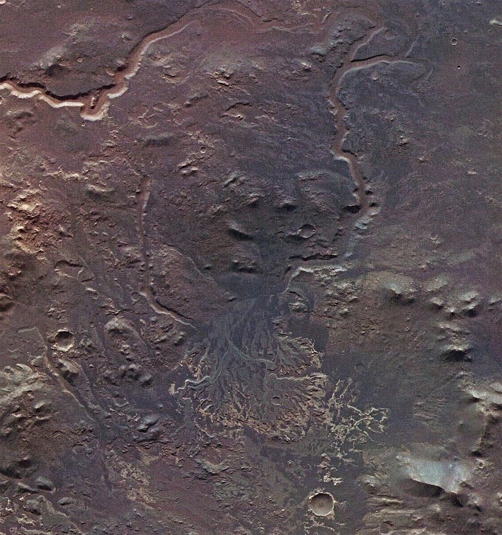 Mars Ebserswalde Crater Delta