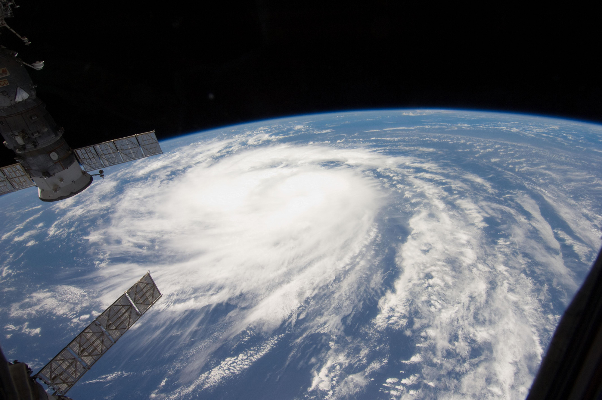 Hurricane Katia Spotted from