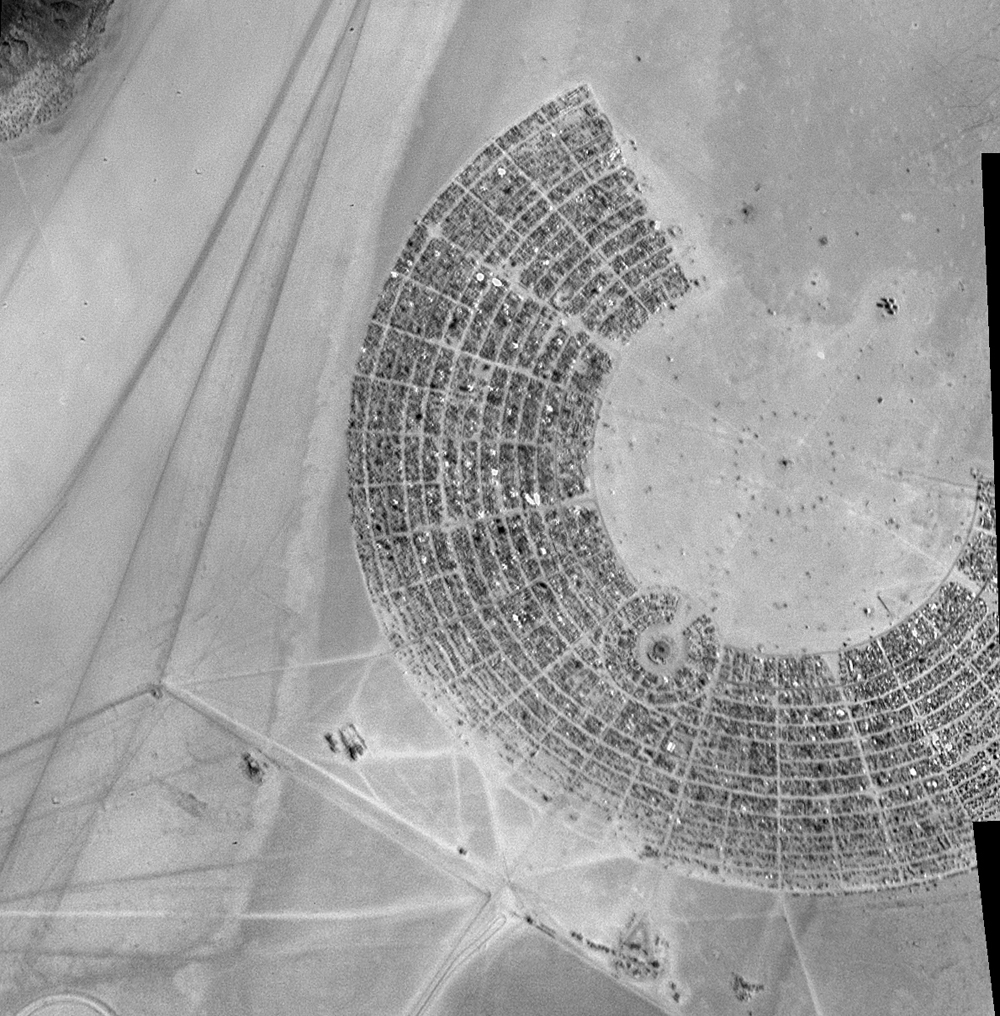 Satellite Sees Burning Man Festival From Space