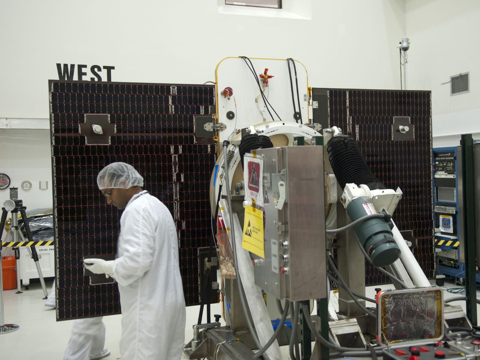 GRAIL's Solar Array Tested