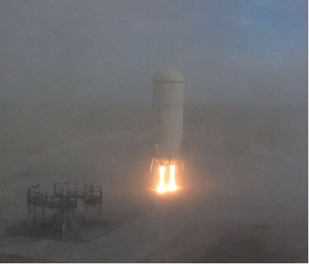 Blue Origin 'Short Hop' Test Flight Landing