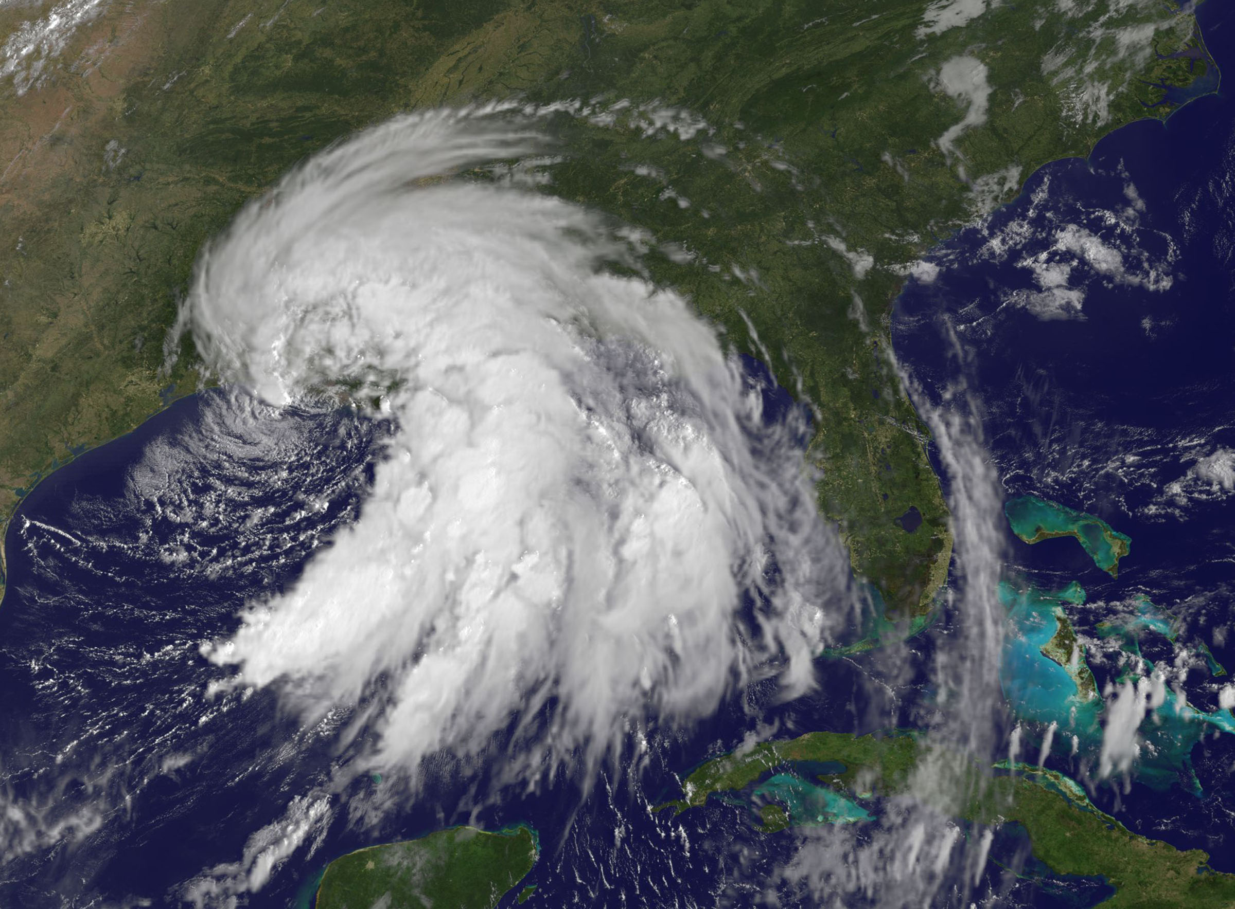 Satellite Photos Show Tropical Storm Lee Drenching Gulf Coast