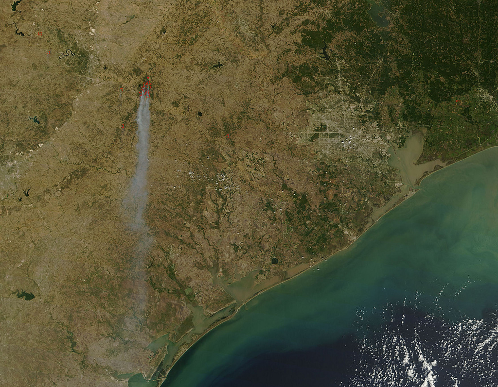 Bastrop County Fires in Texas