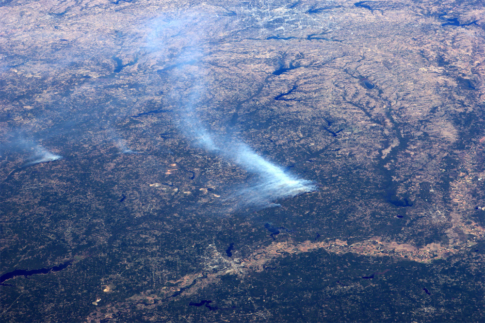Smoke From Texas Wildfires Visible From Space