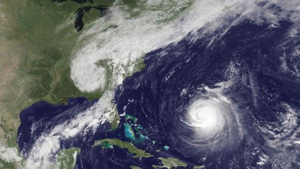 Stormy Pair: Lee and Katia Spotted from Space