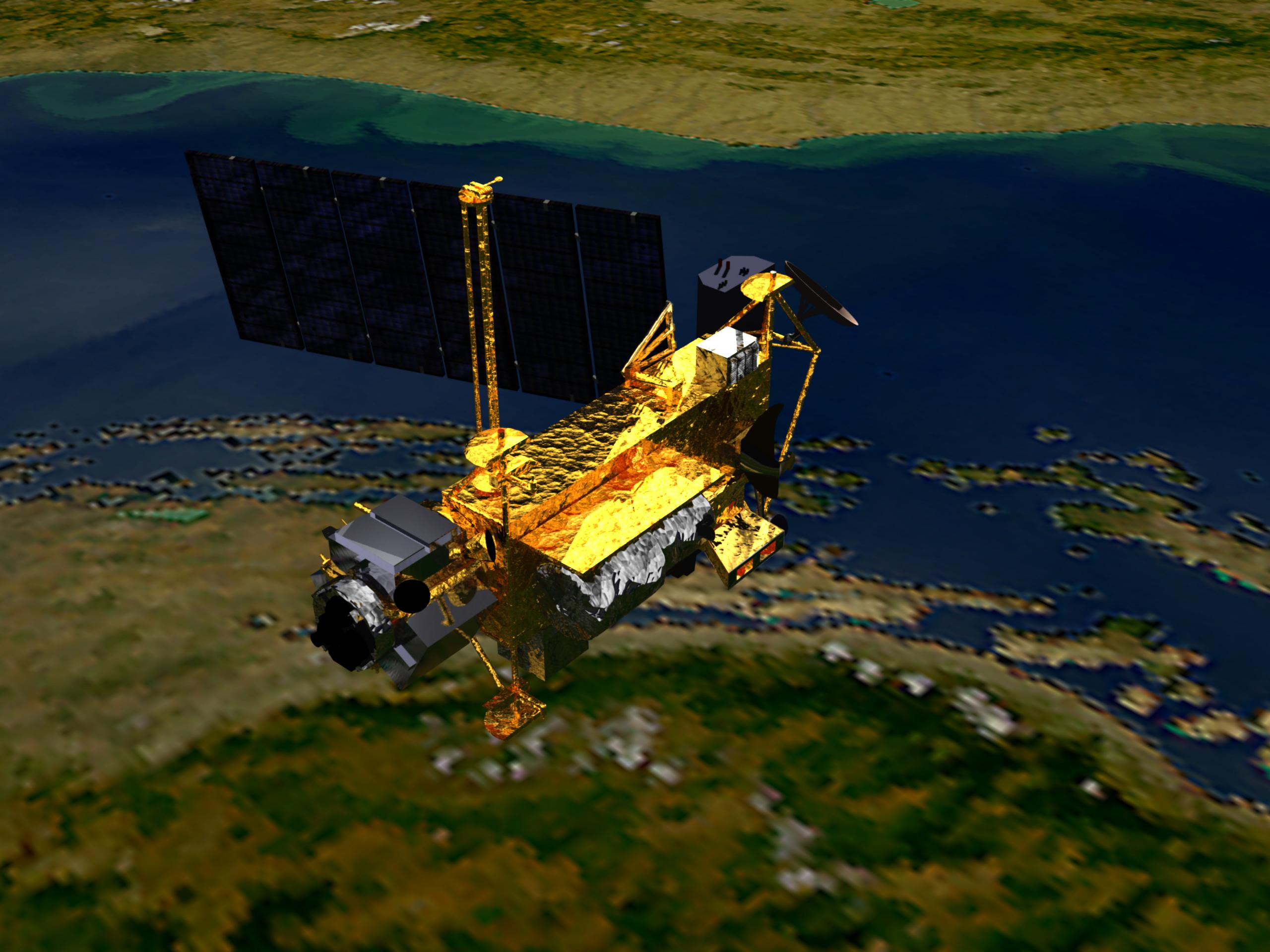 UARS Satellite in Orbit